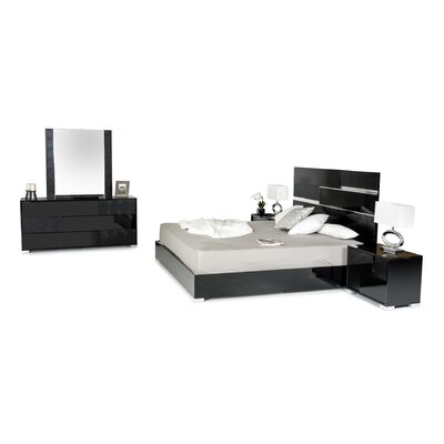 Colona 3 Drawer Dresser with 2 Nightstands Color: Black