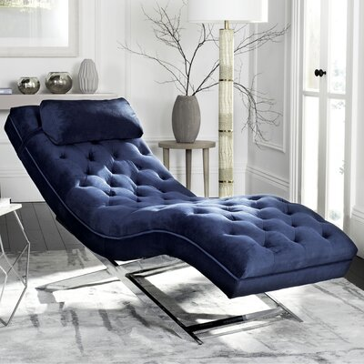 Mulder Chaise Lounge Upholstery: Navy