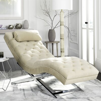 Mulder Chaise Lounge Upholstery: Beige