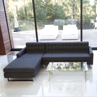 Caves Sectional Upholstery: Charcoal, Orientation: Right Hand Facing
