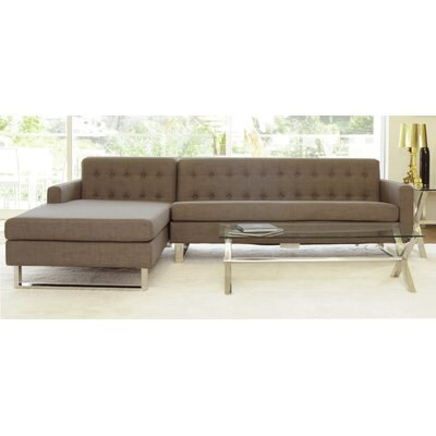 Landyn Sectional Upholstery: Brown, Orientation: Left Hand Facing