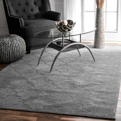 Celestine Hand-Tufted Charcoal Area Rug Rug Size: Rectangle 86 x 116