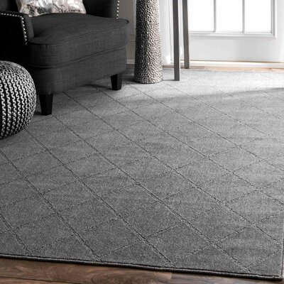 Windsor Park Hand-Tufted Gray Area Rug Rug Size: 86 x 116