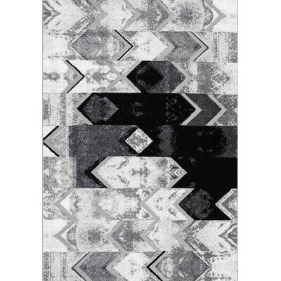Longwell Green Gray Area Rug Rug Size: Rectangle 53 x 77