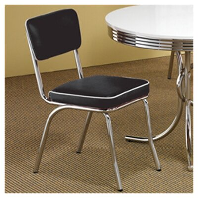 Kewei Side Chair Upholstery: Black