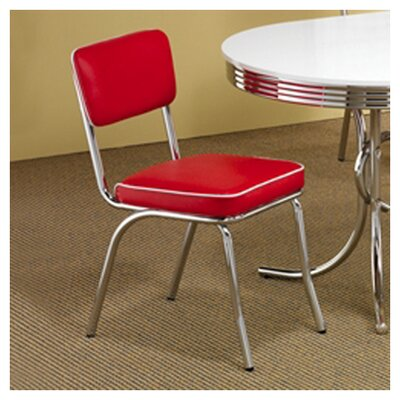 Kewei Side Chair Upholstery: Red