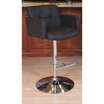 Limpley Stoke Swivel Bar Stool Upholstery: Black