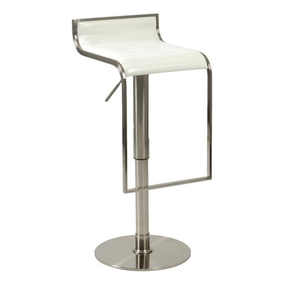 Bannerdown Adjustable Height Swivel Bar Stool Upholstery: White