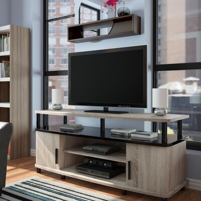 Elian TV Stand Color: Light Brown Oak / Black, Size: 47.25 W