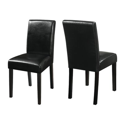 Facey Side Chair Upholstery: Black