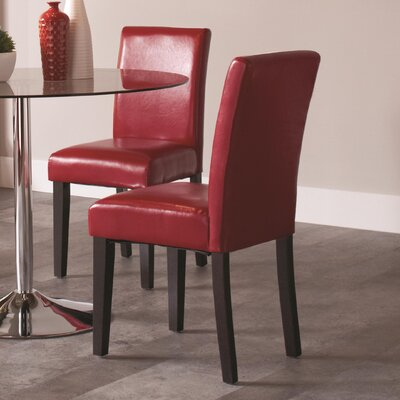 Facey Side Chair Upholstery: Red