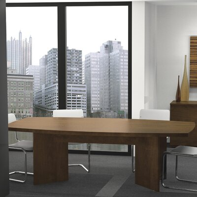 Mariana 8 Boat Shaped Conference Table Finish: Chocolate