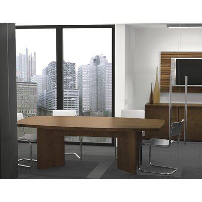 Mariana Boat shaped 30.4H x 47.5W x 96L Conference Table Finish: Chocolate