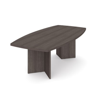 Mariana 8 Boat Shaped Conference Table Finish: Bark Gray