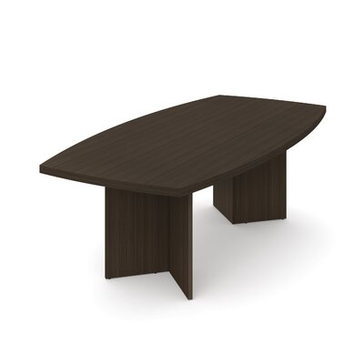 Mariana 8 Boat Shaped Conference Table Finish: Dark Chocolate