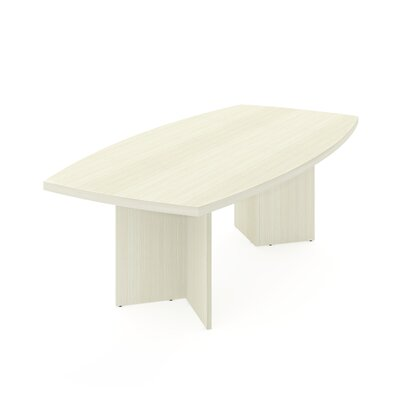 Mariana 8 Boat Shaped Conference Table Finish: White Chocolate