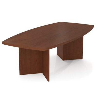Mariana 8 Boat Shaped Conference Table Finish: Bordeaux