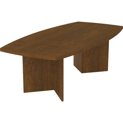 Mariana Boat shaped 30.4H x 47.5W x 96L Conference Table Finish: Tuscany Brown