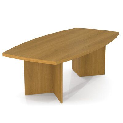 Mariana 8 Boat Shaped Conference Table Finish: Cappuccino Cherry