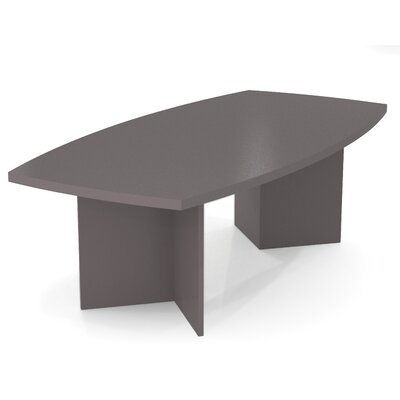 Mariana 8 Boat Shaped Conference Table Finish: Slate