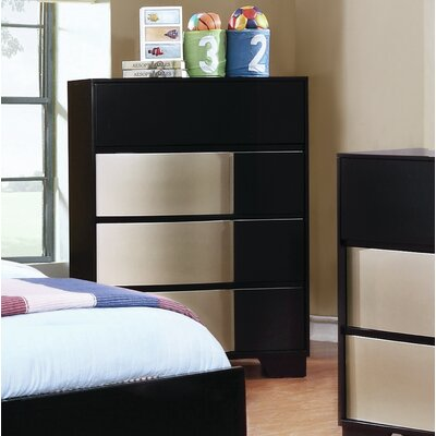 Dawna 6 Drawer Dresser Color: Black