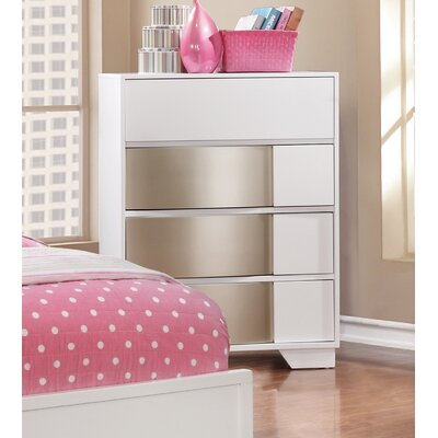 Dawna 6 Drawer Dresser Color: White