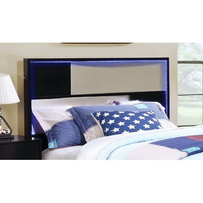 Savannah Slat Headboard Size: Twin, Finish: Black