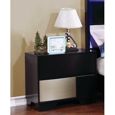 Dawna Nightstand Color: Black