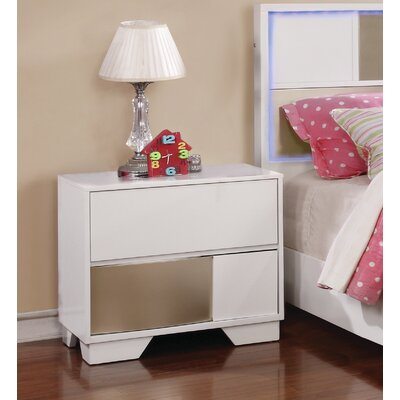 Dawna Nightstand Color: White