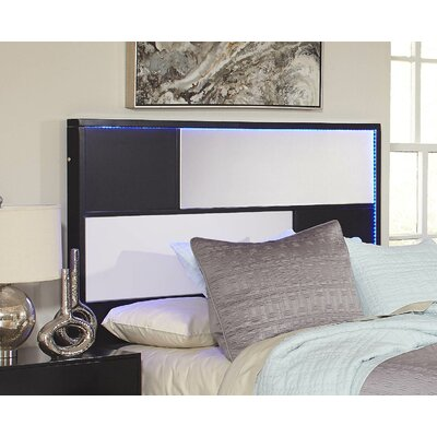Savannah Slat Headboard Size: Queen, Finish: Black