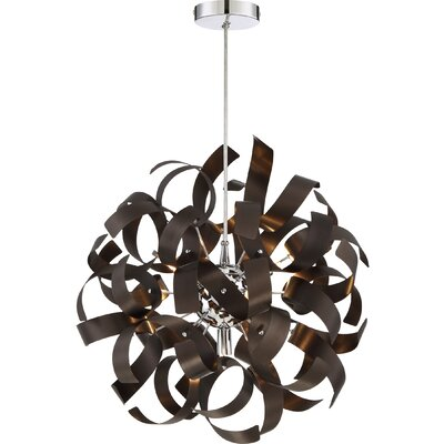 Huron 5-Light Pendant Finish: Bronze