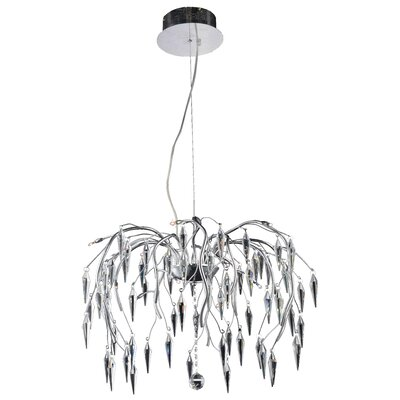 America 12-Light Crystal Chandelier