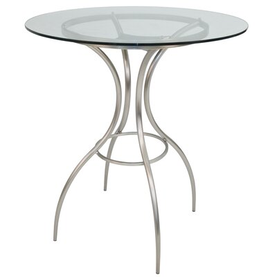 Yakira Brushed Steel Frame Pub Table