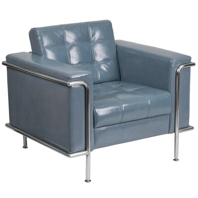 Hypnos Leather Guest Chair Seat Color: Gray