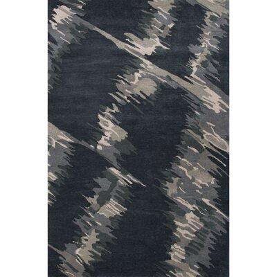 Nick Black Abstract Area Rug Rug Size: 2 x 3