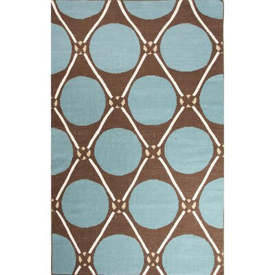 Duffield Green/Taupe Geometric Area Rug Rug Size: 8 x 11