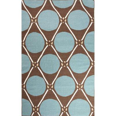 Nick Green/Taupe Geometric Area Rug Rug Size: 8 x 11
