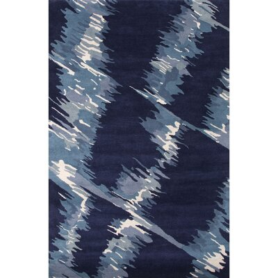 Nick Hand-Woven Wool Blue Camouflage Area Rug Rug Size: Rectangle 5' x 8'
