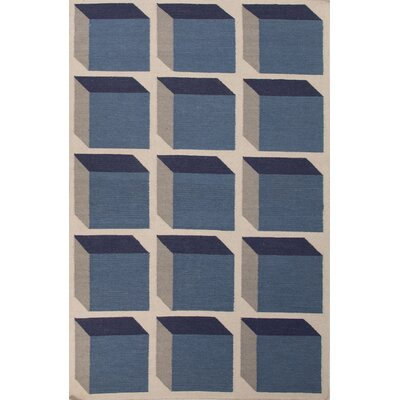 Montville Blue Geometric Area Rug Rug Size: 2 x 3