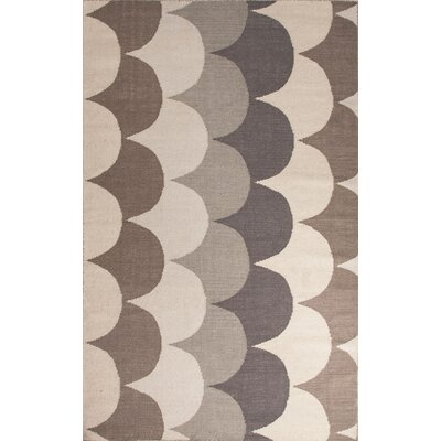 Montville Gray & Taupe Geometric Area Rug Rug Size: 5 x 8