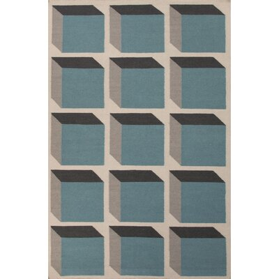 Montville Light Blue Geometric Area Rug Rug Size: 2 x 3