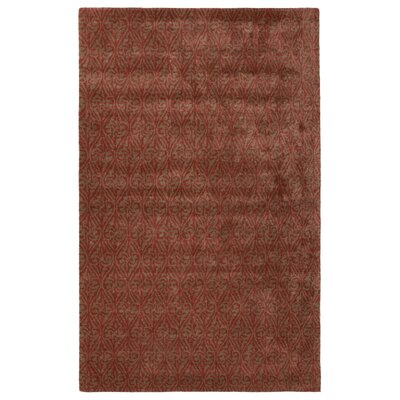 Rainey Street Hand-Tufted Red Area Rug Rug Size: 96 x 136