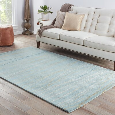 Rainey Street Hand-Tufted Blue Area Rug Rug Size: 2' x 3'