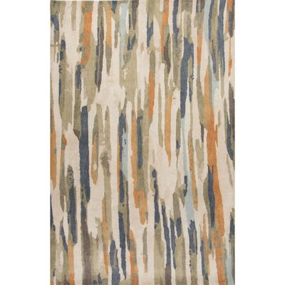Nick Hand-Tufted Ivory/Multi Area Rug Rug Size: 5 x 8
