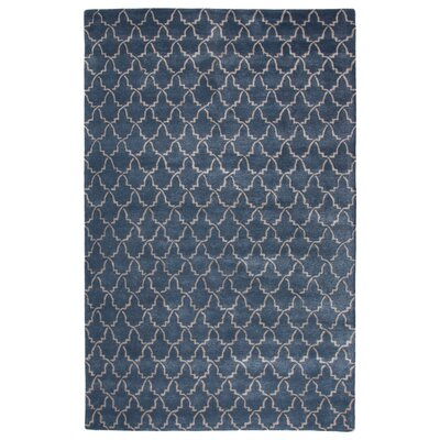 Bruce Hand-Tufted Blue Area Rug Rug Size: Rectangle 5 x 8