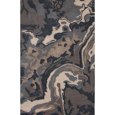 Valentino Wool and Art Silk Hand Tufted Blue/Tan Area Rug Rug Size: 5 x 8