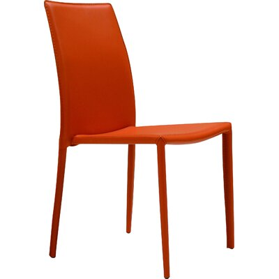Meade Parsons Chair (Set of 4) Chair Finish: Orange