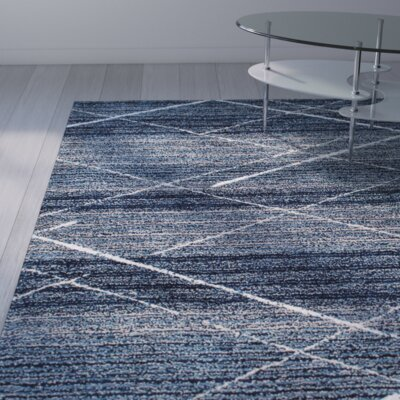 Hickman Hand-Tufted Blue Area Rug Rug Size: 76 x 96