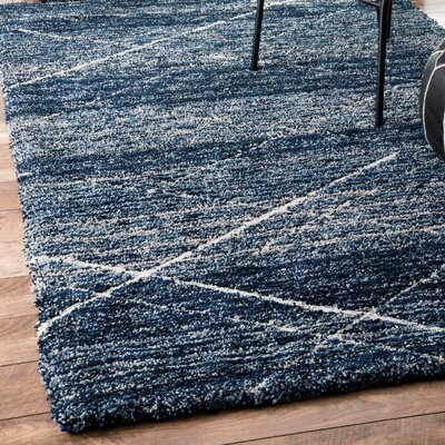 Hickman Hand-Tufted Blue Area Rug Rug Size: Rectangle 5 x 8