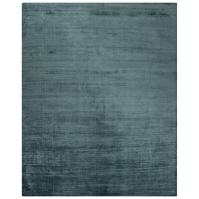 Canarsie Hand-Loomed Blue Area Rug Rug Size: Rectangle 9 x 12